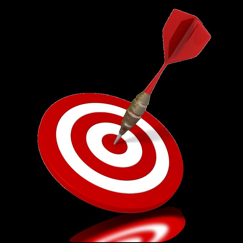 image of a dart hitting the bullseye